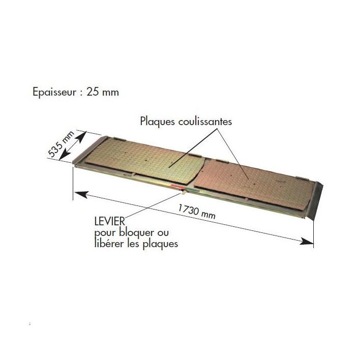 Plaque de ripage pour pont élévateur sans logement-231255 - Controleurs de géométrie-consogarage.com