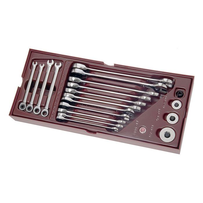 Coquilles de 19 clès mixtes CK-4900-17B - Outillage pour tiroir de servante-consogarage.com