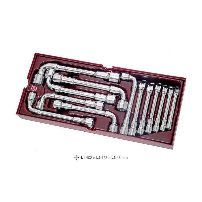 Coquille de 13 clés à pipe debouchées-4900-18B - Outillage pour tiroir de servante-consogarage.com