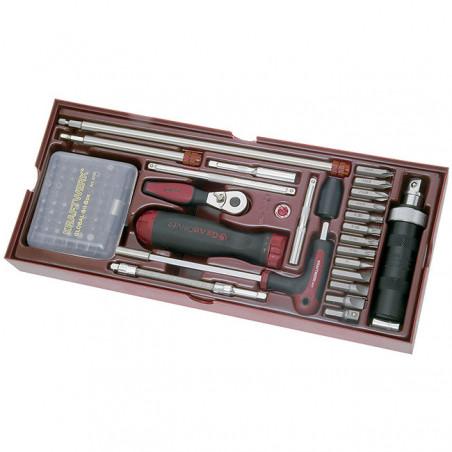 Coquille de 85 outils de vissage-4900-19B - Outillage pour tiroir de servante-consogarage.com