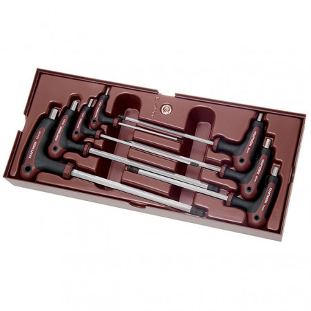 Coquille de 7 clés mâles hexagonales en T-4900-25B - Outillage pour tiroir de