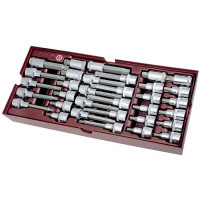 Coquille de 33 douilles-embouts 1/2''-4900-38B - Outillage pour tiroir de servante-consogarage.com