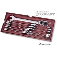 Coquille de 14 clés combinées à cliquet-4900-47B - Outillage pour tiroir de servante-consogarage.com