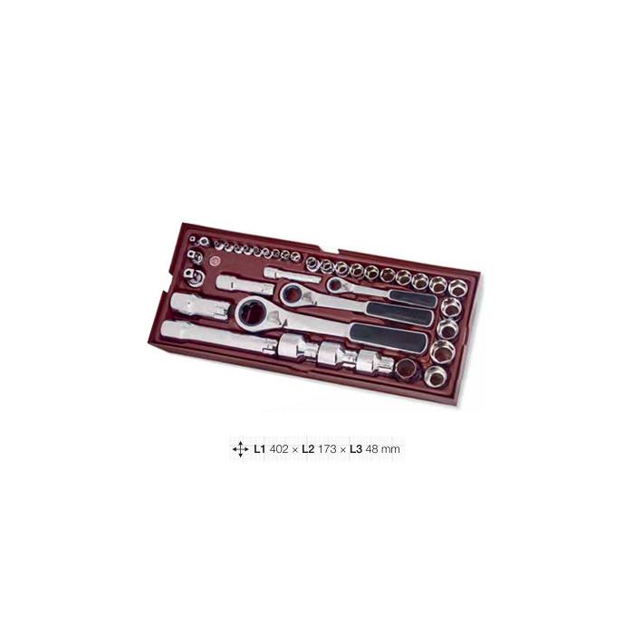 Coquille de 38 clés Gearratchet-4900-49B - Outillage pour tiroir de servante-consogarage.com