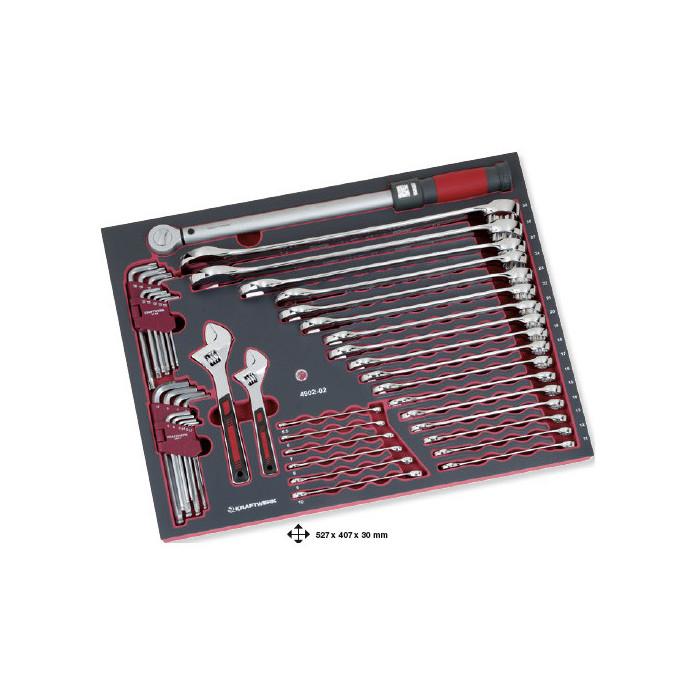 Jeu de 45 clés avec clé dynamométrique-4902-02 - Outillage pour tiroir de servante-consogarage.com