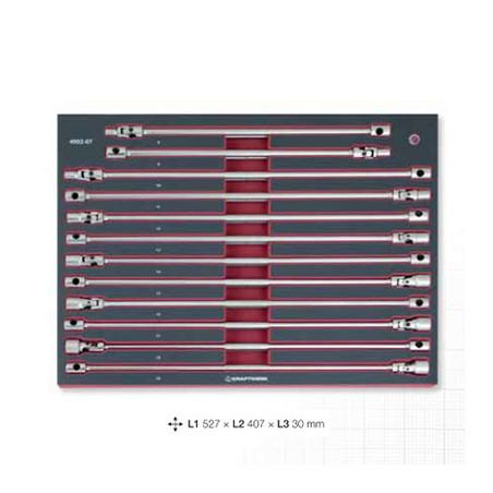 Jeu de 12 clés articulées en T extra longues-4902-07 - Outillage pour tiroir de