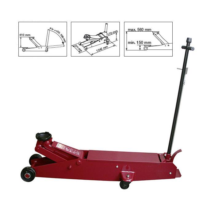 Cric hydraulique d'atelier 5T-38105 - Cric - Chandelles-consogarage.com