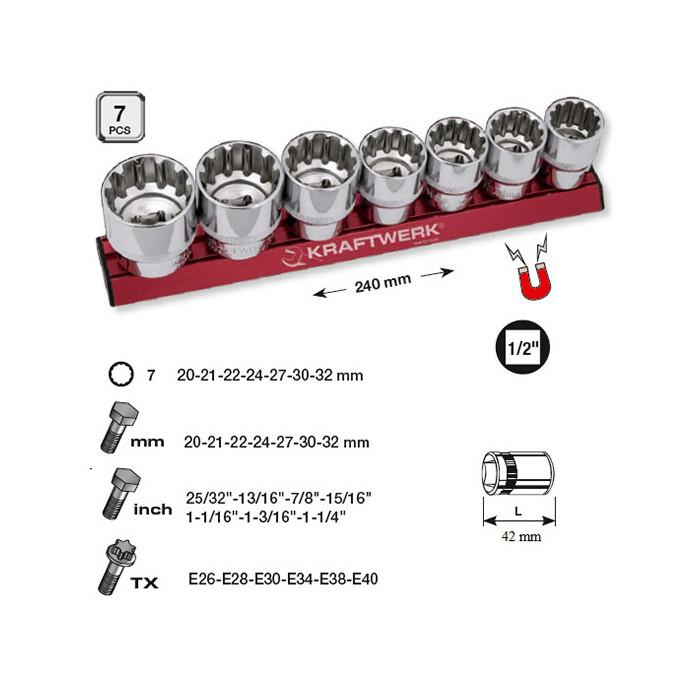 7 Douilles combi MagAlu de 20 à 32 mm-330991 - Clés - Douilles-consogarage.com