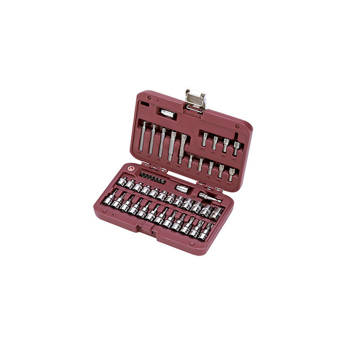 Coffret de douilles 48 pièces 3/8''-4013 - Malette - Valise - Caisse à outils-consogarage.com