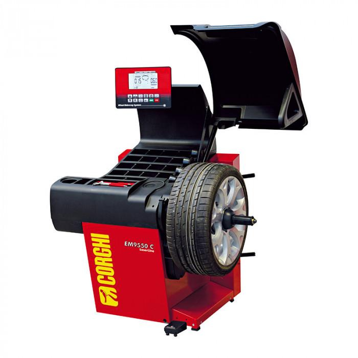 Équilibreuse automatique EM9550 Plus Laserline-EM9550X - Équilibreuse de roue-consogarage.com