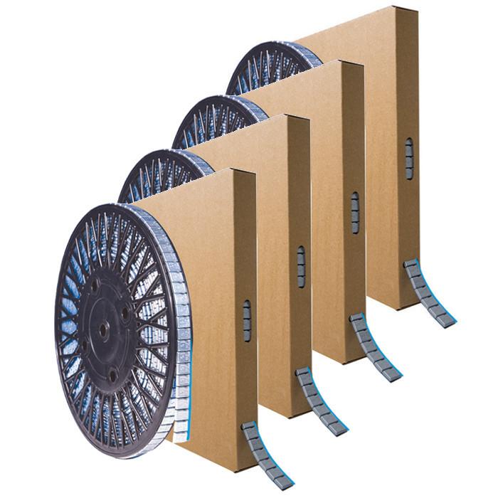 Masse adhésive en rouleau 5kg x4-RO97ZC - Masses équilibrage - Outillage-consogarage.com