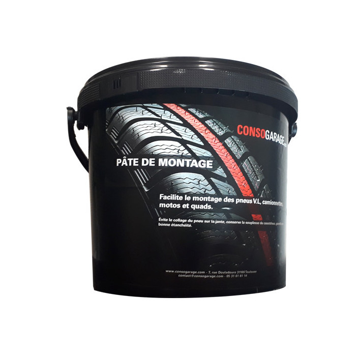 Pâte de montage noire 5kg-ACBPG05 - Complément pour le montage de pneu-consogarage.com