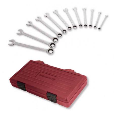 COMBINATION CLICKRAFT Jeu de 12 clés combinées à cliquet-3400-54 - Clés - Douilles-consogarage.com