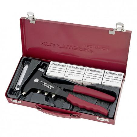 Pince à riveter industrielle avec assortiment de rivets-4261 - Pinces-consogarage.com