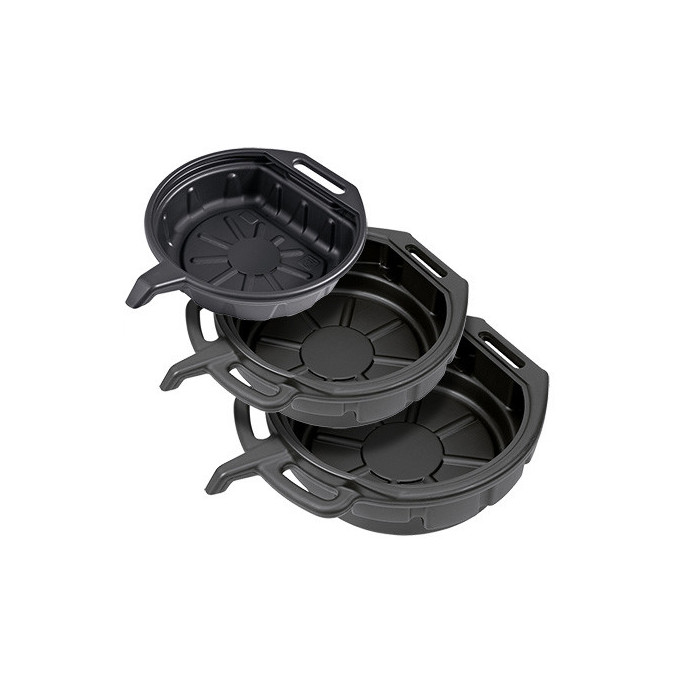 3 bacs plastique de récupération d'huiles-30624-26 - Vidange-consogarage.com