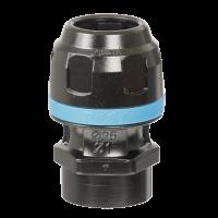 Raccord droit aluminium fileté femelle G1/2'' cylindrique pour tubes Ø20mm-PPS1MF2012 - Réseau