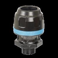Raccord droit aluminium fileté mâle conique pour tubes Ø20mm-PPS1MM2012 - Réseau