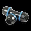Té égal aluminium pour tubes Ø20mm-PPS1TE20 - Réseau d'air-consogarage.com