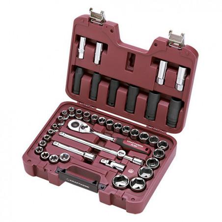 Coffret de douilles 42 pièces 1/2''-4027 - Malette - Valise - Caisse à outils-consogarage.com