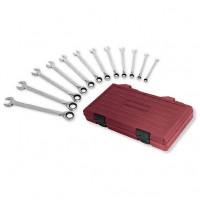 Coffret de 12 clés combinées à cliquet réversible-3404-54 - Malette - Valise - Caisse à