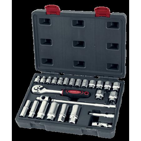 Coffret de douilles 3/8'' 26 pièces-1012 - Mallette - Valise - Caisse à outils-consogarage.com