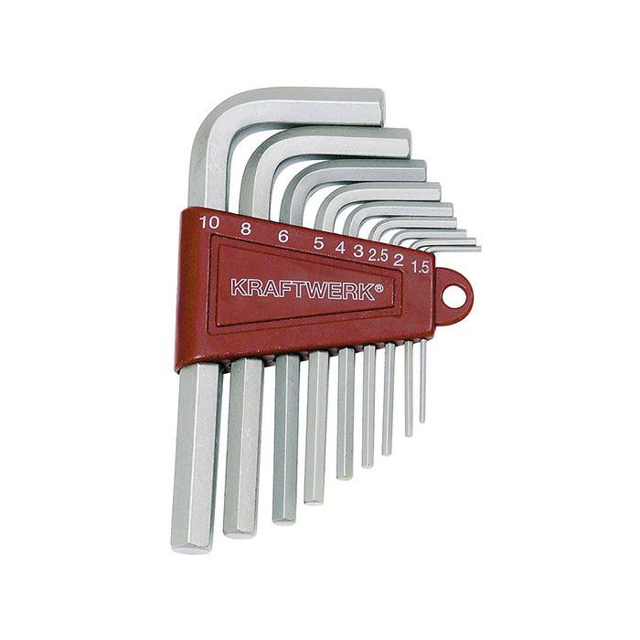 Jeu de 9 clés mâles-3601 - Clés - Douilles-consogarage.com