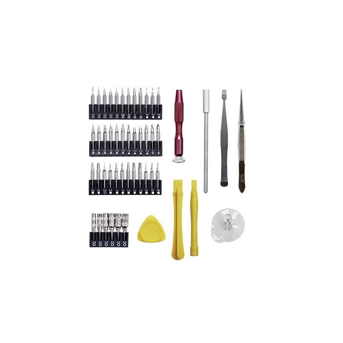 Jeu de 51 outils de précision pour l'électronique-3182 - Malette - Valise - Caisse à