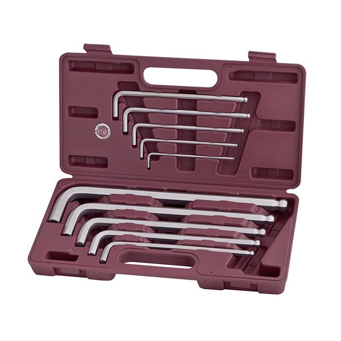 Coffret de clés mâles coudées à tête sphérique-3606 - Clés - Douilles-consogarage.com