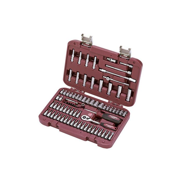 Coffret de douilles 78 pièces 1/4''-4007 - Malette - Valise - Caisse à outils-consogarage.com