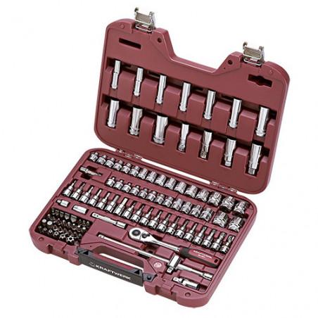 Coffret de douilles 101 pièces 3/8''-4017 - Malette - Valise - Caisse à outils-consogarage.com