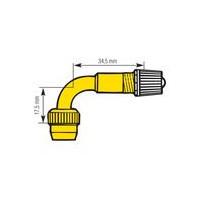 Rallonge rigide simple coude 90° en métal (sachet de 10)-1197 - Valves tubeless -