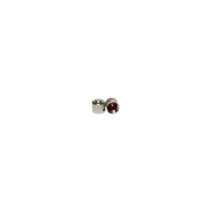 Bouchon de valve laiton nickelé avec joint-1423 - Valves tubeless - Accessoires-consogarage.com