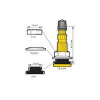 Valve TR618 A (sachet de 10)-4045 - Valves tubeless - Accessoires-consogarage.com
