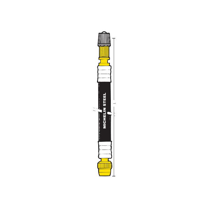 Rallonge de valve Michelin - tresse métallique VENDU A L'UNITÉ-rallongemichelin_unit - Valves