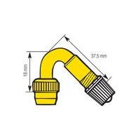 Rallonge rigide simple coude 45° en métal (sachet de 10)-W353 - Valves tubeless -