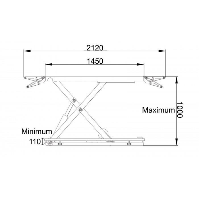 Dimensions pont, vue latérale