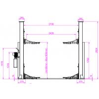 Dimensions du pont 2 colonnes - Vue latérale