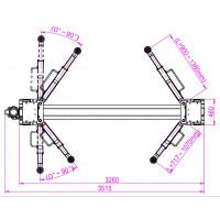 Dimensions du pont 2 colonnes - Vue supérieure