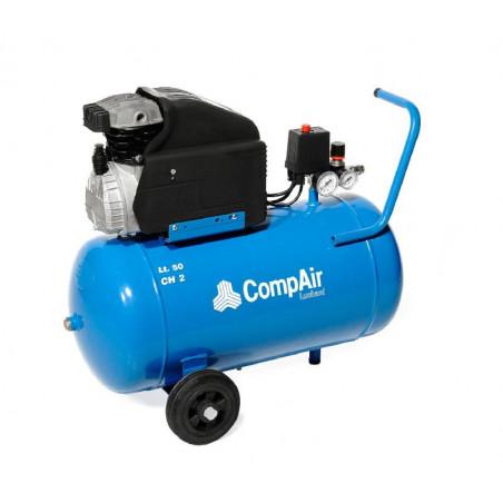 Compresseur 50L - 8 bar - 2CV-CLT052-MA - Compresseurs-consogarage.com