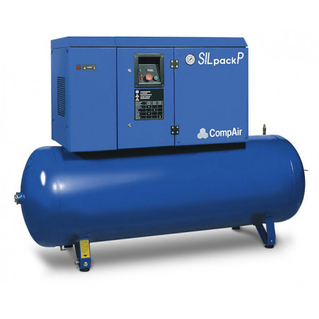 Compresseur insonorisé avec sécheur d'air 10ch 10bars 500L-SILPACK-PF630-500X -