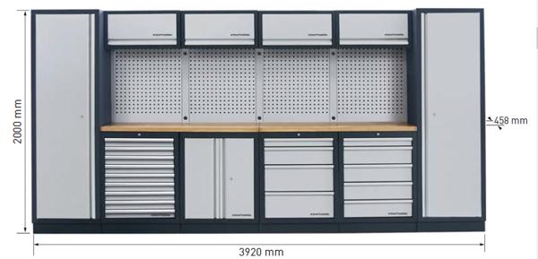 Dimensions du meuble d'atelier 3964F