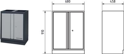 Meuble bas 2 portes avec tablette