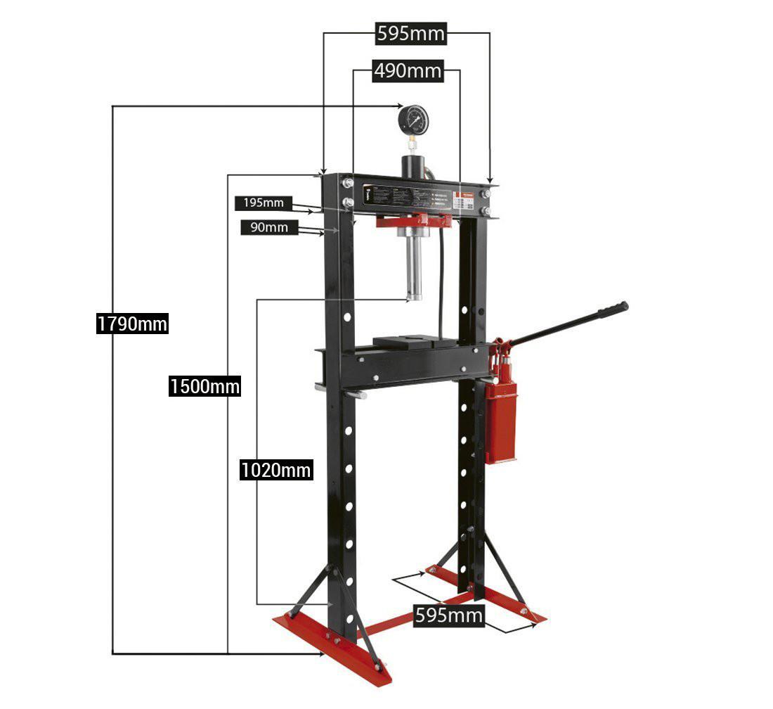 Dimensions de la presse